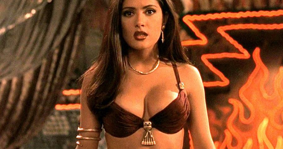 Salma hayek gorgeous brunette in bikini
